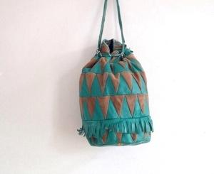 Green Leather Duffle Bag  $39.00